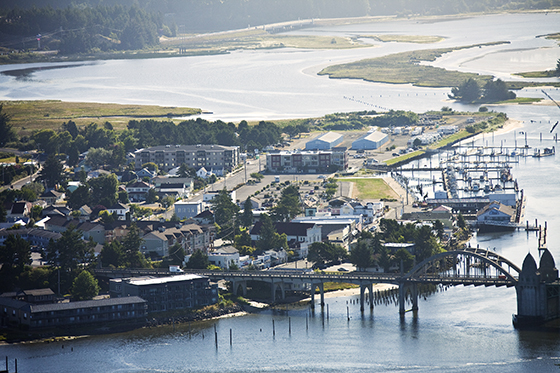 Bay Street, Siuslaw River, SR Bridge & Marina
